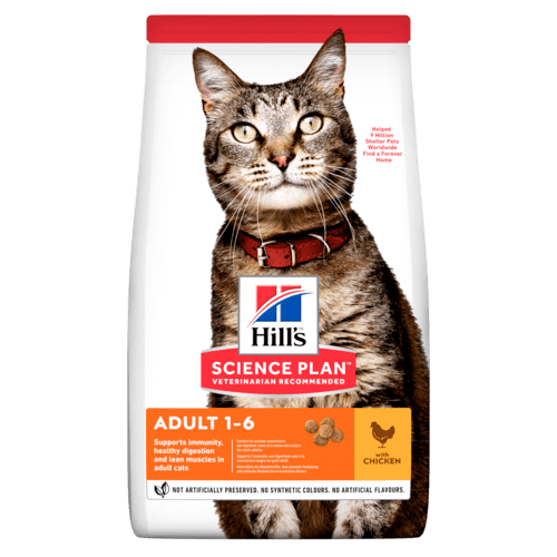 Сухой корм хиллс для кошек для кожи и шерсти
